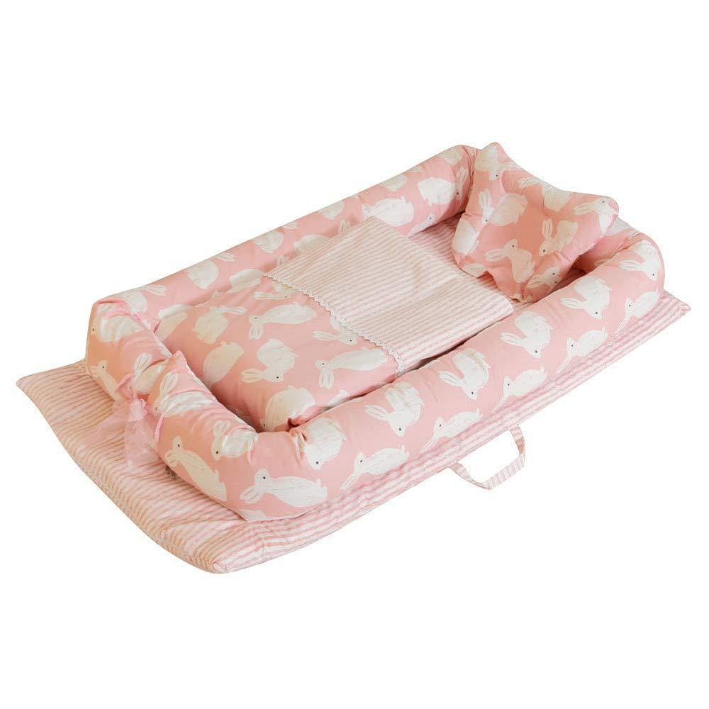 取り外し可能で洗える100%の綿の赤ん坊の分離のベッドが付いている携帯用ベビーベッドのベッド寝室の睡眠および旅行のために適した新生児のバイオニックベッド,5  5 B07S5BSZCQ