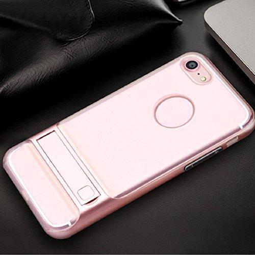 sisit Slim pattern TPU + funda de protección para PC funda para iPhone 8plus 5.5pulgadas, color dorado rose