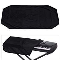 JJmooer 61/76 Keys Electronic Piano Keyboard Dust Cover Black Soft Cloth Anti-Dust Protector Washable