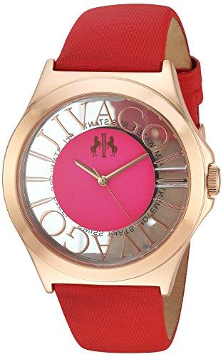 Jivago Women's 'Fun' Swiss Quartz Stainless Steel Casual Watch, Color:Red (Model: JV8436)