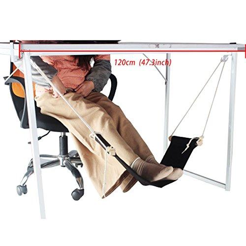 CHILDHOOD Portable Mini Office Foot Rest Stand Adjustable Foot Hammock Under the Desk