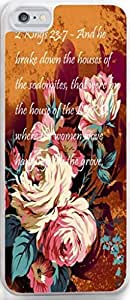 Case For Iphone Dseason, Iphone 6plus 5.5 Case New Slim Hard Unique Design Christian Quotes Hand painted pink peony