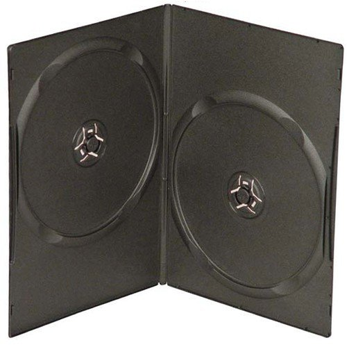 (mediaxpo Brand 25 Slim Black Double DVD Cases 7MM)