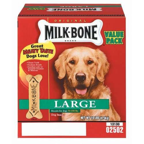 Milk-Bone Original Large Value Pack Dog Biscuits, Treats, or Snacks - 10 Lb Big Box! ()
