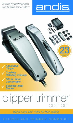 Andis-CordCordless-23-Piece-Hair-ClipperBeard-Trimmer-Combo-Haircutting-Kit-Silver-20140