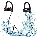 MUZC IPX7 Waterproof Bluetooth Headphones, Bluetooth 4.1 with Mic Sport Stereo Headset, Noise Cancelling Earbuds