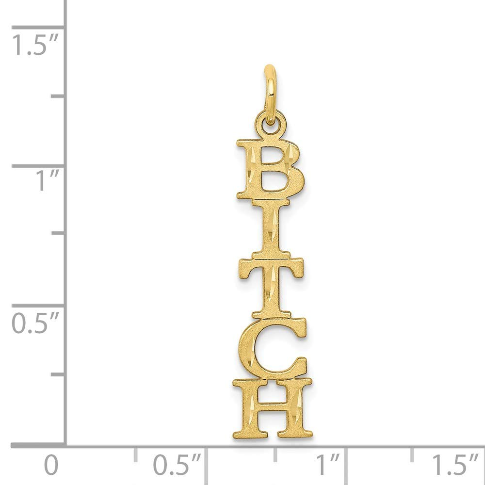 1.26 in x 0.24 in Jewel Tie 10K Yellow Gold 5-Lettered Talking Charm