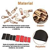 Carperipher 50 Pcs AWG 8/6/4/2 Heavy Duty Copper