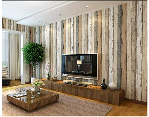 Wallpaper Modern Minimalist Primary Color Wood Stripe Non-Woven Wall Paper Decoration for Family Living Room Hotel Office
