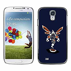 Shell-Star ( Abstract Dragonfly ) Fundas Cover Cubre Hard Case Cover para Samsung Galaxy S4 IV (I9500 / I9505 / I9505G) / SGH-i337