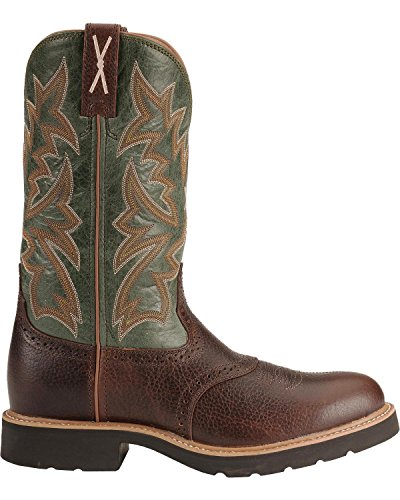 Twisted X Men's Pullon Work Boot Round Toe Cognac 9.5 D(M) US by Twisted X (Image #1)