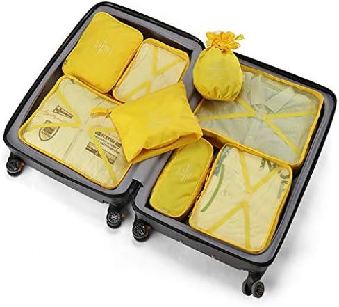 8個の荷物梱包オーガナイザー、梱包キューブ、トラベル保管袋軽量荷物トラベルキューブ衣類ソーティングパッケージ,D