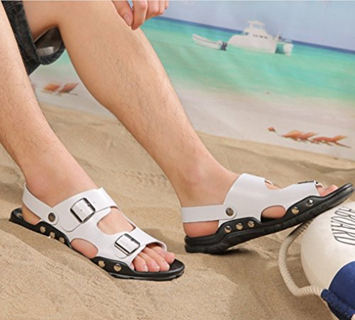 LIANGXIE Sommer 2018 Outdoor Atmungsaktiv Hof Neue Komfort Weiß Xiaoqi große Männer Schuhe Sandalen Strand Sandalen wFwrBqg