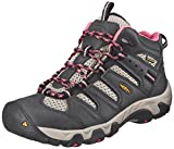 KEEN Women's Koven Mid Waterproof Hiking Boot, Raven/Slate Rose, 8 M US