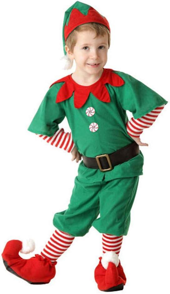 LSERVER Disfraz de Navidad Conjunto de Cosplay Duende Elfo Navidad ...