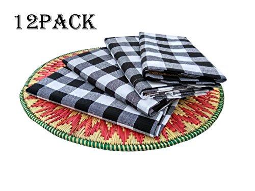 Napkin Black And White Check - 1