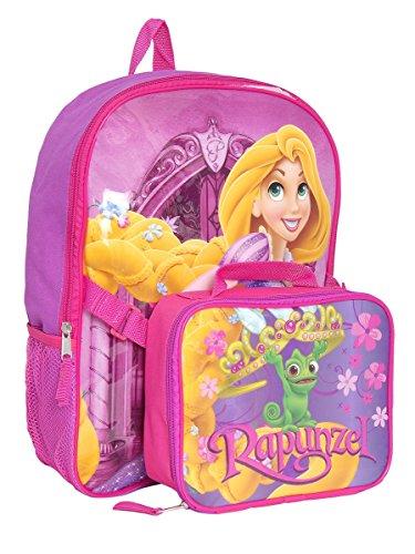 Disney Girls 2-6X Princess Backpack and Lunch Bag Set (Purple)