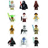 Cakeshop 12 x PRE-CUT Lego Star Wars Stand Up Edible Cake Toppers