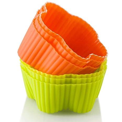 BTTNW HO Taza para Hornear Formas ovales Cupcake de Silicona ...