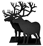 Fasmov Elk Nonskid Bookends Art Bookend,1 Pair, Black Deal (Small Image)