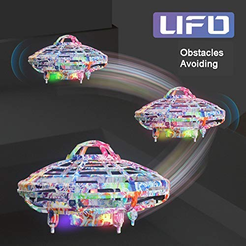 Flying Ball Toy, Cool UFO Hand-Controlled Drone Quadcopter Flying RC Toy for Boys Girls Valentines Gift,Colorful Flashing LED Lights Interactive Infrared Induction Helicopter Ball with 360Rotating by FUNSEA (Image #5)