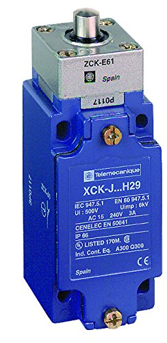(Telemecanique XCKJ OsiSense XC Standard Limit Switch, SPDT Contacts, Non-Plug In, Top Rod Plunger, 1/2