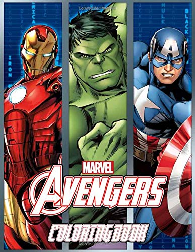 Marvel Avengers Coloring Book  Super Edition Marvel Avengers Coloring Pages For Everyone Adults Teenagers Tweens Kids Boys And Girls