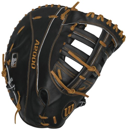 Wilson A2000 First Base Baseball Glove (Black), Left Hand Throw, 12.25