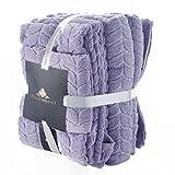 Bagno Milano Jacquard Collection Lavender 6 Pcs Towel Set Elegant Style for Your Home- Absorbent & Decorative