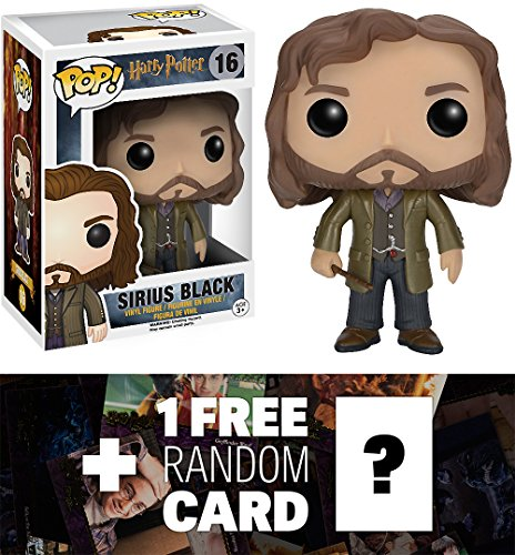 Sirius Black: Funko POP! x Harry Potter Vinyl Figure + 1 FREE Official Harry Potter Trading Card Bundle [65706]