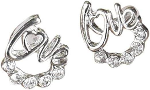New Fashion Women Lady Elegant 1Pair Crystal Rhinestone Ear Stud Earrings Gift