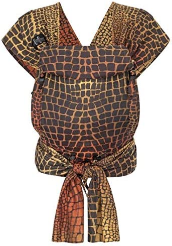 HOPPEDIZ - Marsupio porta bebè Hop-Tye Buckle Darwin, colore: Nero