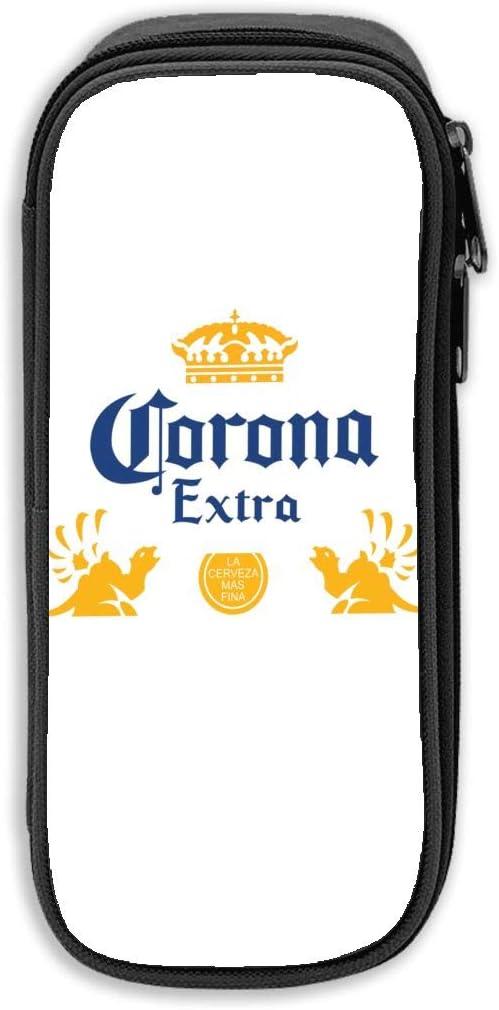 Corona - Estuche para lápices de cerveza extra grande, color negro talla única: Amazon.es: Oficina y papelería