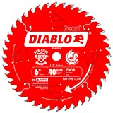 Freud D0640X Diablo 6-Inch 40 Tooth ATB Trim Saw Blade with 1/2-Inch Arbor, (D0640X)