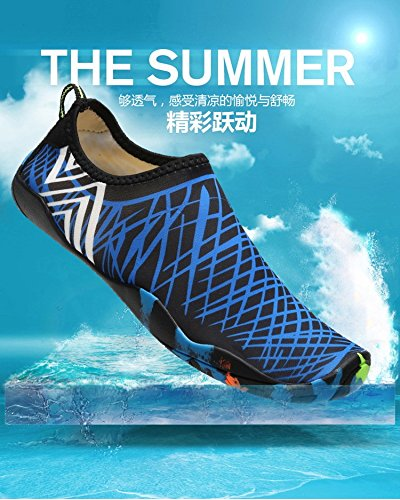 MOM 2018 couples men and women swimming shoes outdoor leisure wading upstream shoes non-slip sets of feet beach shoes blue WAbuKJ