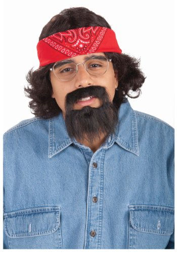 (Forum Novelties Mens Tommy Chong Halloween Party Costume Kit Black)