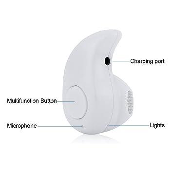Mini auricular Bluetooth auriculares inalámbricos con micrófono Kit manos libres Soporte para iPhone Samsung Sony Lenovo