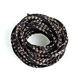 10M 4-20mm Black and Gold Braided Expandable Cable Sleeve Wire Protection High Density Sheathing Insulated Wire Wrapper