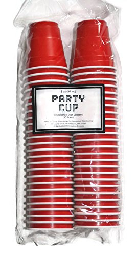 Disposable Red Shot Glasses Count product image