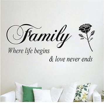 Ysain Family Where Life Begins Love Never Ends Extraíble Cita ...