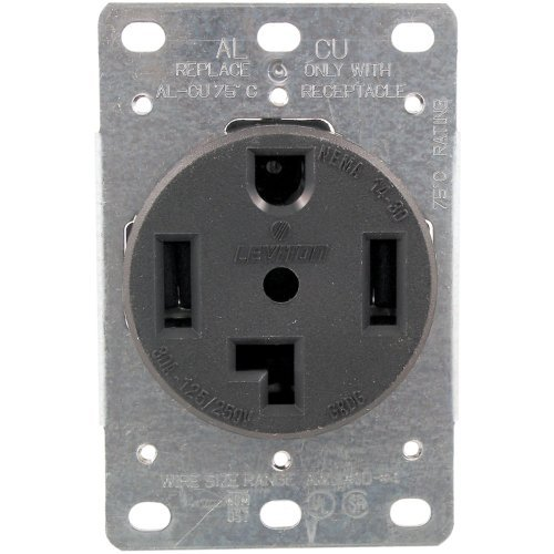 1 - Single-Flush Dryer Receptacle (4 wire), 30A , 4 wire , 278 by Pass & Seymour