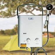 Kissmoji Tankless Hot Water Heater Best Portable Propane LP Gas RV/Camper Food Truck US