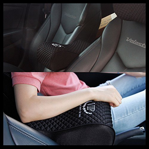 Sonata Armen Art - VIP Luxury Black Memoryform Car Seat Cushions Armrest Center Consoles Cushion Pillow Pad for Car Motors Auto Vehicle(1pack) by GotoShop