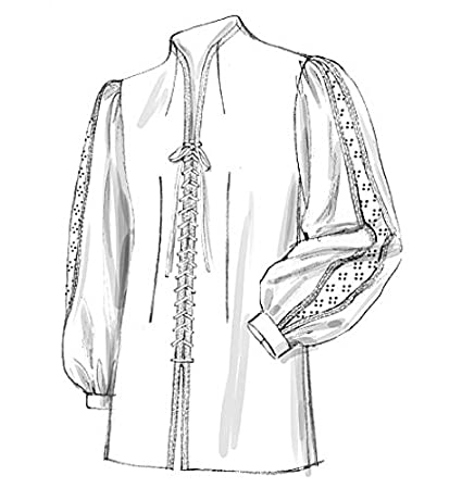 Amazon.com: McCalls Cosplay Mens Sewing Pattern 2027 Historical Lace ...