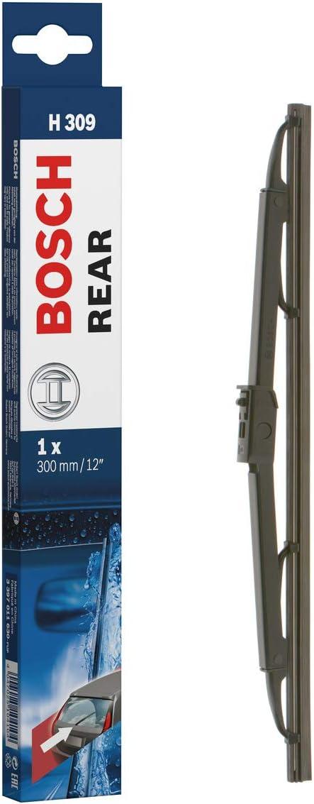 Escobilla limpiaparabrisas Bosch Rear H309, Longitud: 300mm – 1 escobilla limpiaparabrisas para la ventana trasera