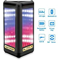 Light Bluetooth Speaker UPPEL LED Wireless Bluetooth Eco Speaker HiFi Subwoofer 3D Bass Stereo With Multicolor LED Lights Support Micro SD Card Magic Mirror Speaker