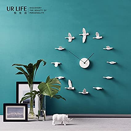 xxin Reloj de pared de pared de casa blanca de reloj