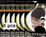QFitt Dome Style Wig Cap X-LARGE 5027 (6pcs)