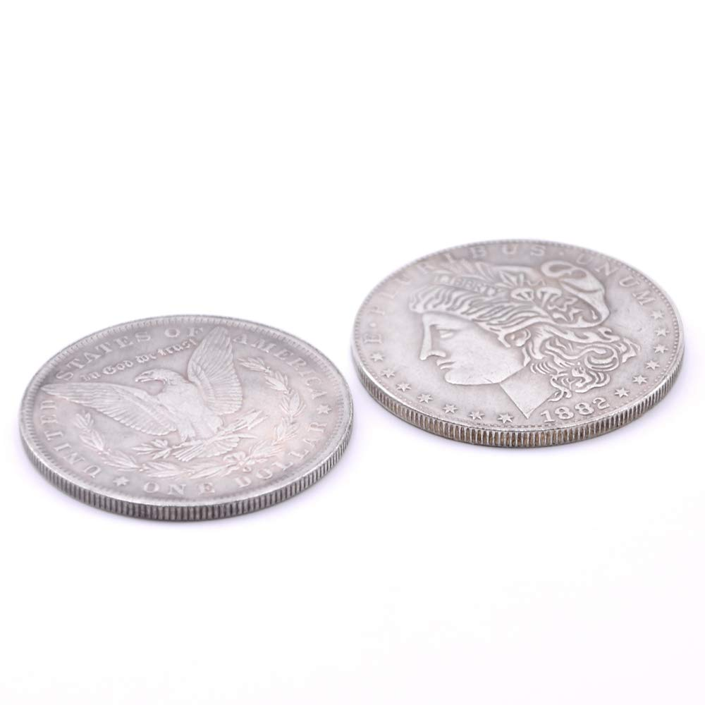 10pcs//lot Doowops Palming Coins Trick,Magic Tricks,Coin Magic,Props,Accessories,Gimmick,Comedy Morgan Version