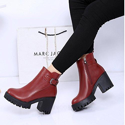 todo Cashmere Treinta de y botas botas tacón otoño de invierno partido y el tacón invierno alto El botas de GTVERNH alto cálido siete y U81wW